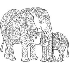hand drawn elephants coloring page Make your world more colorful with free printable coloring pages from italks. Our free coloring pages for adults and kids. Cute Coloring Pages, Doodle Coloring, Animal Coloring Pages, Mandala Coloring, Adult Coloring Pages, Coloring Books, Elephant Colour, Elephant Love, Elephant Art