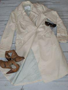 Day Birger et Mikkelsen Stunning Embroidered Cream Linen Coat 12 Mango Suit, Cream Coat, Summer Coats, Size 12 Uk, Linnet, Cashmere Wool, Suede Jacket, Plain Black, Shirt Dress