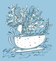 Mermaid in a cup illustration | Carla Martell