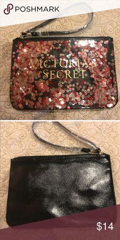 e7947258a1b Victoria Secret Clutch Victoria Secret Zippered glitter clutch wristlet  will hold your stuff in style!