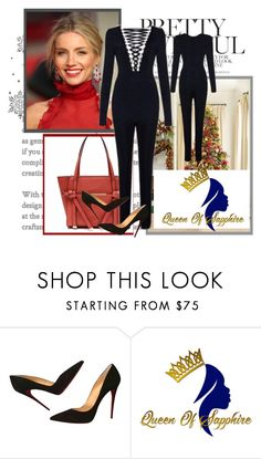 """Queen of sapphire 3"" by julyete ❤ liked on Polyvore featuring Burberry and Christian Louboutin"