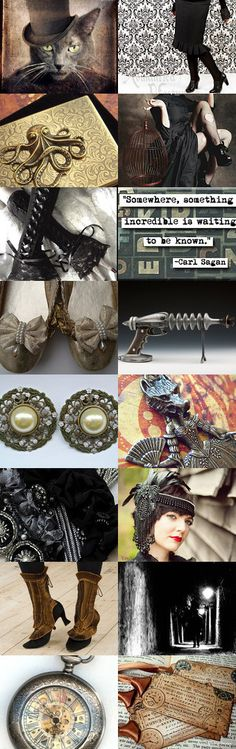 The Mysterious Mystery Tour by Suzee on Etsy--Pinned with TreasuryPin.com.  Steampunk goodies I found on Etsy -- Suzeetoo