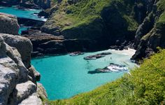 Housel Bay, Cornwall. England.   I actually climbed down there....and back up.