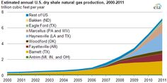 Estimated Annual U.S. Dry Shale Natural Gas Production 2000-2011