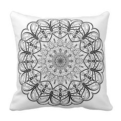 Stay Patient & Trust Your Journey Mandala Pillow - home gifts ideas decor special unique custom individual customized individualized