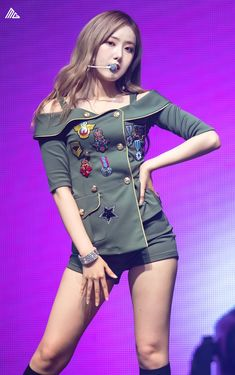 Photo album containing 33 pictures of SinB Stage Outfits, Girl Outfits, Fashion Outfits, Extended Play, Girls Secrets, Sinb Gfriend, Standing Poses, Military Girl, Girls Generation