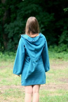 Legend of zelda inspired cosplay Turquoise Elven tunic  by tatoke, $85.00