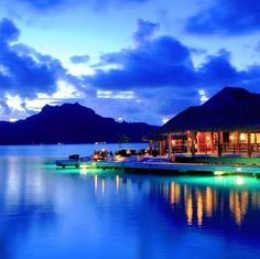 Bora Bora, French Polynesia - Imagine the beautiful blue water Places Around The World, Oh The Places You'll Go, Travel Around The World, Places To Travel, Places To Visit, Around The Worlds, Tahiti, Bora Bora French Polynesia, Vacation Destinations