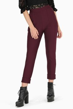 These ridiculously comfy pants come in a rich wine colour, so you can toast to your own good fashion sense.– Scientifically* proven to be the world's most comfortable pants (*May not be actual science. Emo Fashion, Gothic Fashion, Waist Cincher Corset, Waist Training Corset, Black Milk Clothing, Comfy Pants, Galaxy Print, Cuffed Pants, Stockings Lingerie