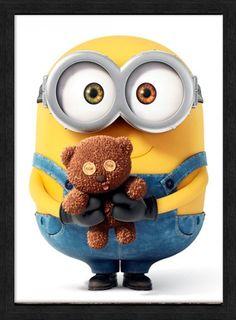 Bob the minion & teddy bear wallpaper Amor Minions, Minions Bob, Minions Despicable Me, Minions Quotes, The Minions, Minion Humour, Minion Jokes, Minion Stuff, Minion Talk