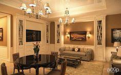 Фото гостиная - интерьер, квартира, дом, гостиная, эклектика, классика, ампир, неогрек, палладианство, неоклассика, ар-деко, 50 - 80 м2, студия