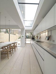 New kitchen modern interior design glass roof Ideas Terraced House, Kitchen Interior, Modern Interior, Interior Architecture, Interior Design, Küchen Design, House Design, Design Ideas, Victorian Terrace