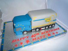 Lorry cake 7th Birthday, Vehicle, Dads, Truck, Baking, Pies, Parents, Bread Making, Patisserie