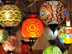 Ferias artesanales en Brasil. Lámparas