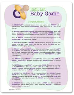 baby games baby shower games boy shower right left baby shower game