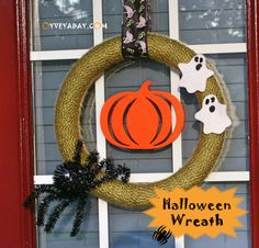 DIY Halloween Wreath from Oyveyaday.com