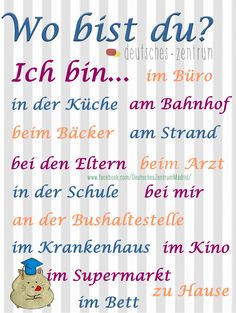 Am Bahnhof Study German, German English, Learn German, German Grammar, German Words, Dativ Deutsch, German Resources, Deutsch Language, Germany Language