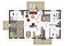 Pihlaja 136 pohjakuva Sweet Home, Floor Plans, Flooring, How To Plan, Architecture, Interior, Sims, Flow, House Ideas