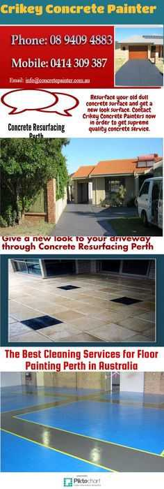 Resurface your old dull concrete surface and get a new look surface. Concrete Resurfacing, Concrete Floors, Perth, New Look, Surface, Outdoor Decor, Design, Garlic