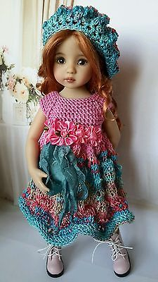 "OOAK Outfit for doll 13""  Effner Little Darling) collection summer gradien"