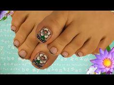 Decoro flor en uñas de los pies Deco Nails - YouTube Cute Animal Photos, Manicure, Nails, Art Tutorials, Nail Art, Toe Nail Designs, Work Nails, Vestidos, Pretty Toe Nails