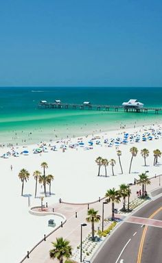 Clearwater Beach, Tampa, Florida. If you are looking for a beach with a lot of things to do, then Clearwater Beach is the place to go in Tampa Bay. There are a lot of restaurants, hotels, shops and activities.  They have a lot of dinner cruise ships and jet skiing etc. The scenery is beautiful crossing the bridge to Clearwater Beach and I just walking around the area.