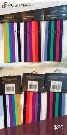 NWT Nike headband bundle NWT Never worn. This listing is for all three headband packages. Originally $30 Nike Accessories Hair Accessories