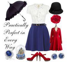 Disney Inspired - Mary Poppins -- Oh my heart! Cute Disney Outfits, Disney Themed Outfits, Disney Dresses, Cute Outfits, Disney Clothes, Mary Poppins Outfit, Mary Poppins Costume, Moda Disney, Disney Mode
