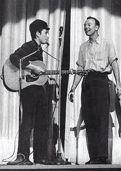 Bob Dylan and Pete Seeger, New York City 1962