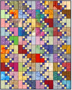 Sew Quilt corner - The corner quilt block is easy and fun to make. Use scraps, fat quarters or yardage or a combination of all three. Strip piecing or patchwork piecing or both can be used. This article includes instructions for 6 quilt sizes. Lap Quilts, Strip Quilts, Scrappy Quilts, Amish Quilts, Scrap Quilt Patterns, Pattern Blocks, Canvas Patterns, 4 Patch Quilt, Quilt Blocks