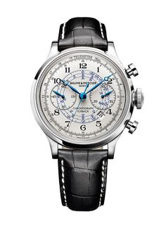@Baume & Mercier Capeland Flyback Chrono Automatic with steel case and alligator strap. £ 5,110.