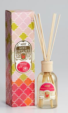 reed diffuser - grapefruit paradisi! #packaging