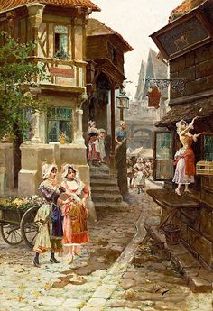 Mariano Alonso Perez y Villagrosa Classic Paintings, Great Paintings, Landscape Paintings, Art Espagnole, Rajasthani Art, Spanish Art, Alonso, Victorian Art, Realistic Drawings