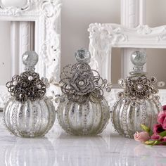 InStyle-Decor.com Beverly Hills Beautiful Vintage Art Glass Christmas Perfume Bottles Trending Unique Hollywood Home Decor Inspirations Enjoy & Happy Pinning