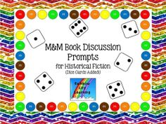 Historical Fiction Prompts! I love to use these bookmark discussion prompt cards with mixed-level conference groups.  All students benefit from hearing about different texts of the same genre regardless of the level. Using these cards to guide your discussion with students should help to make the discussion richer.      I have included dice cards for those who would like a black/white printing option.       Follow Rainbow City Learning on TpT for more genres! $