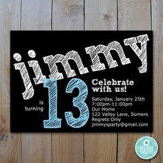 96 11 Year Old Boy Birthday Invitations