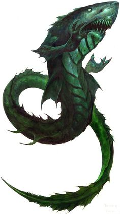 """dailybestiary: """"(Illustration by Wayne England comes from the Paizo Blog and is © Paizo Publishing.) Sea dragons are blustery but basically good-hearted commodores, forever wandering across the vast..."""