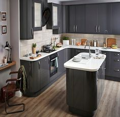 B&Q IT Santini Gloss Anthracite Slab. Kitchen-compare.com - Home - Independent Kitchen Price Comparisons