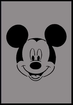 Mickey Mouse Face Stencil Airbrush Stencils Painting Reusable Wall