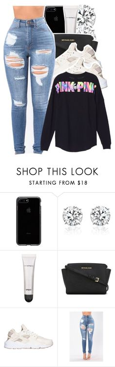 """Untitled #192"" by babygirlkikig ❤ liked on Polyvore featuring MAC Cosmetics, MICHAEL Michael Kors and NIKE"