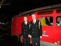 dhr. Hilbrand Meijer (Clustercommandant) en dhr. Joop Berendsen. Afscheid BrandWeer Oost Achterhoek