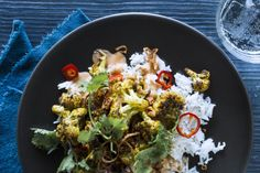 Better Than Takeout: Vadouvan-Roasted Cauliflower With Harissa-Chickpea Curry photo
