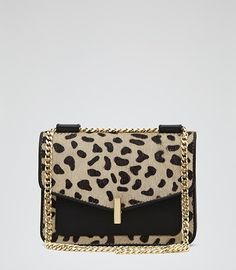 Elliott Print Animal Print Mini Animal-print Bag - REISS