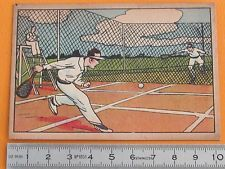 RARE 1920-1930 CHROMO GRANDE IMAGE ECOLE BON-POINT SERIE SPORTS TENNIS