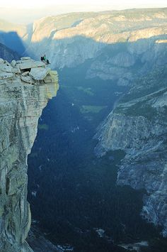 Top of Half Dome, Yosemite NP, CA - this is so cool! Have you been to the top?