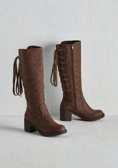 Recently Retro Boot in Brown | Mod Retro Vintage Boots | ModCloth.com