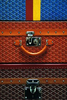 Goyard suitcases - can't get enough of these!