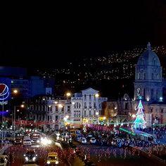 Plaza san francisco en navidad