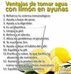 Beneficios de beber agua con limon en ayunas