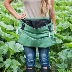 Vegetable Garden Ideas | The Well Appointed House Design, Fashion and Lifestyle Blog Harvesting Tools, Landscaping Tools, Backyard Landscaping, Pulling Weeds, Gardening Apron, Organic Gardening, Vegetable Gardening, Purple Orchids, Tool Belt